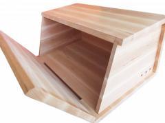Bread box wooden Alder of 40х26х19 cm