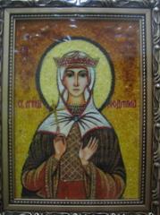 Именные иконы из янтаря, Икона Св. Людмила