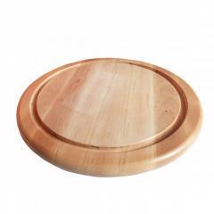 Деревянная доска круглая с выемками под колпак