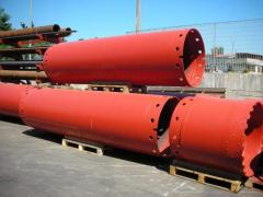 Upsetting boring pipes of of 1180 mm