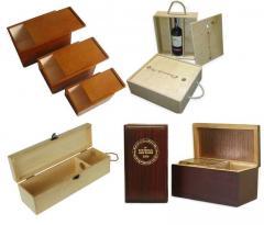 Деревянные коробки для вина Днепропетровск