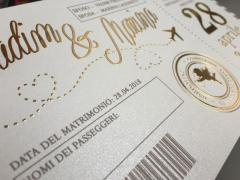 Пригласительные на свадьбу в виде билета на самолет 005