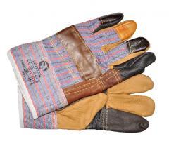 Перчатка комбинированная из кожи и ткани...
