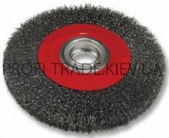 Щетка дисковая d 200*32 мм (рифленая проволока)