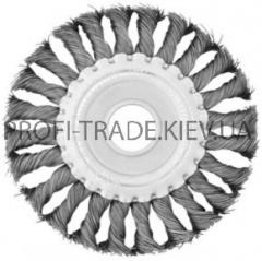 Щетка дисковая d 125*22 мм (плетеная проволока)