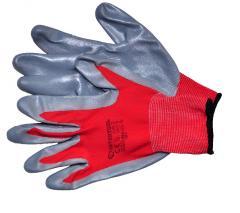 Перчатка красная вязаная синтетическая покрытая