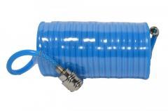 Шланг спиральный полиуретан., 5,5*8 мм, 15м HOUSE TOOLS 80K178