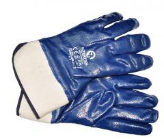 Перчатка маслост. (синяя) на осн. трикот. покрыт.нитрил.стверд.манжет. 10.5 120шт аналог SP-0001W