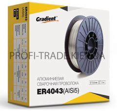 Проволока сварочная Gradient алюминевая 0,8мм 0,5кг ER4043