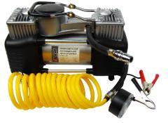 Миникомпрессор автомобильный двухпоршневой, 12В, 12бар, 60л/мин, наборадаптеров (3шт) E-81-118