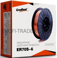 Проволока сварочная Gradient 0.8мм 5 кг ER70S-6