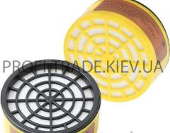 Газовый фильтр для респиратора (кислотный, круглый) 91-130