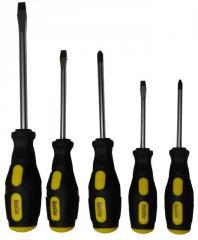 Набор отверток 5шт:SL5X75mm,SL6X100mm,PH0*75мм,PH1X75mm,PH2X100mm,CRV BlackStar 90-10160