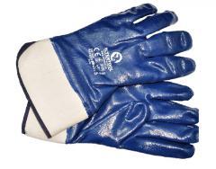 Перчатка маслостойкая (синяя) на осн. трикот. покрыт. нитрил. с твердым манжет. 10.5 120шт SP-0001W