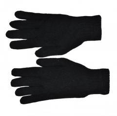 Перчатка без точки черная двойная (360/6шт)