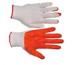 Перчатки СТРЕЙЧ оранжевые (12/960шт) ПТ-0462