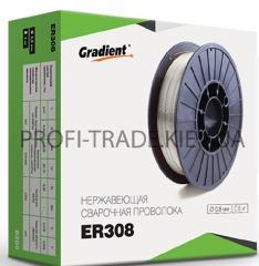 Проволока сварочная Gradient нержавейка 0.8мм 1кг ER308