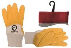Перчатка х/б трикотаж покрытая нитрилом на ладони 10 (желтая) (120пар/ящ) SP-0110W