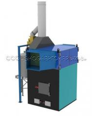The heatgenerator of hot air on solid fuel of the