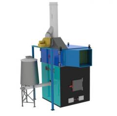Теплогенератор горячего воздуха на твердом топливе марки ПОВ ИНКА для воздушного отопления мощностью от 100 до 5000 кВт.