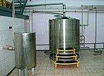 Boiling room of mini-beer factory: hop separator