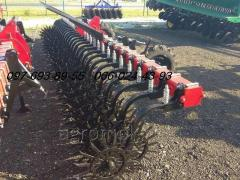 Harrow (mattock) rotational MRN-6 with workers basic wheels