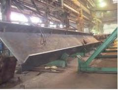 Welded beams. Plant of a metalwork and reinforced