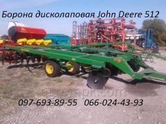 Diskolapovy harrow of John Deere 512