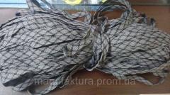 Канат(плоский) серый с орнаментом - 10мм