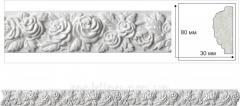Потолочный плинтус с орнаментом. Декоративная