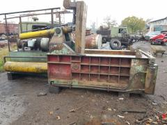 Baling presses for scrap metal