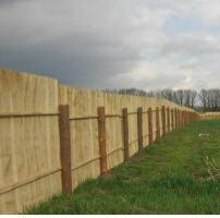 Забор для стройки (временный)