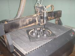Model equipment for molding on HTS-processes