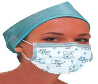 Medical mask with a picture, 16378808