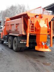 Road cleaning and snow removal vehicles