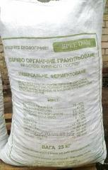 Organic fertilizer on the basis of a chicken dung