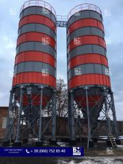 Cement silo on 500 t, silos for storage loose, cement warehouses. accumulative capacities