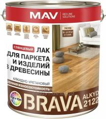 Varnish of BRAVA ALKYD 2122 for a parquet and