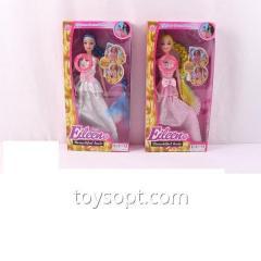 Кукла типа Барби 1014, 120шт/2, 2 вида, муз, свет, с расческой, в кор.33*16*5см