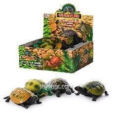 Животные 7219, 216шт, черепахи, 2 вида 12шт в дисплее, 21,5-19,5-8см