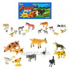 Животные Н 641-1-3, 192шт, домашние, 3 вида, 10шт в шарик, 20-15-3см