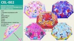 Зонт CEL-002, 60шт, 5 видов, с рисунком, в пакете 50см