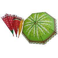 Зонт Фрукты CLG17090, 60шт/5, 4 вида, со свистком, в пакете