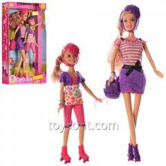Кукла Defa 8130 2 шт., Рюкзак, очки, 2 цвета, кор., 20-34,5-6 см.