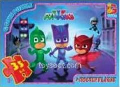 Пазлы ТМ G-Toys из серии Герои в масках, 35 элементов 01PGM