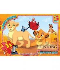 Пазлы ТМ G-Toys из серии Король Лев, 35 элементов LK001