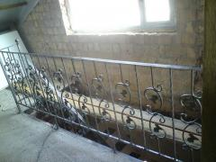 Balcony handrail from metal