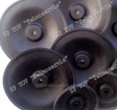 The shock-absorber (membrane) rubber to the