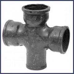 Крестовина чугунная канализационная ЧК Ду