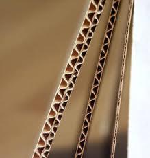 The corrugated cardboard is three-layered, Odessa.